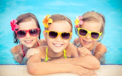 Festa in piscina per bambini
