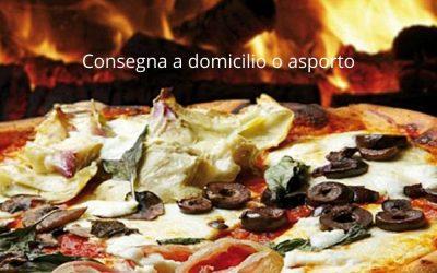 Consegna a domicilio: Pizza, patatine e bibita